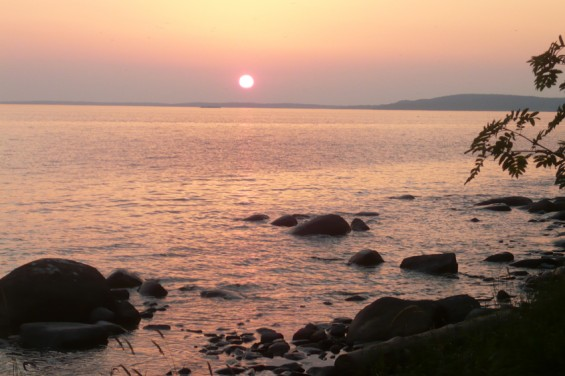 Закат над Бараньим Берегом.
