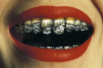 Плакат против курения. 1999 год