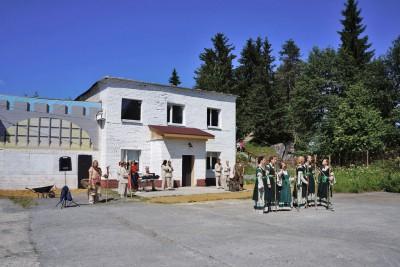 Торжественное открытие новой мастерской в Горном парке «Рускеала»