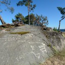 Карельские петроглифы очистят от надписей, оставленных вандалами