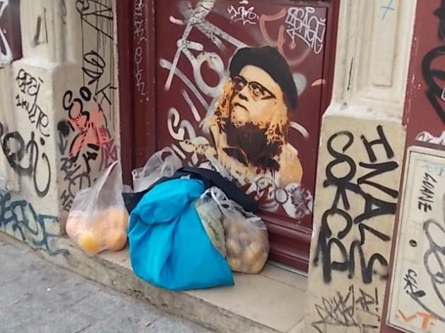 Граффити-улица вблизи бульвара Бельвиль