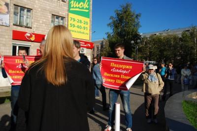 """Митинг партии """"Яблоко"""" в Петрозаводске. Фото: Виталий Голубев"""
