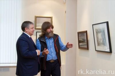Александр Худилайнен и Федор Конюхов. Фото: Виталий Голубев