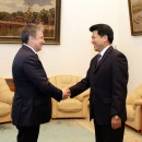 Глава Карелии Александр Худилайнен и посол Китая Ли Хуэй. Фото: http://www.gov.karelia.ru/