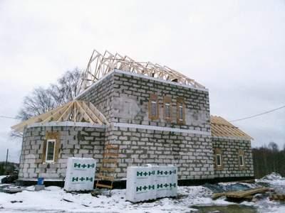 Строительство церкви в Кондопожском районе. Карелия. Фото: http://eparhia.karelia.ru/