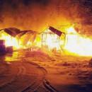 Пожар в Ново-Валаамском монастыре. Фото: http://yle.fi