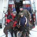 Павел Пфайфер с семьей и собаками в Петрозаводске. Фото: Виталий Голубев