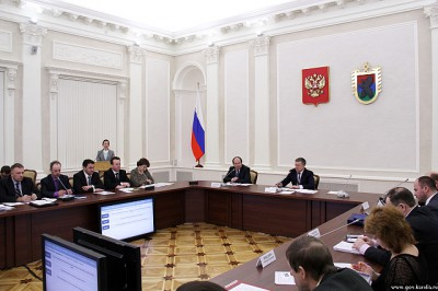 Встреча главы Карелии с руководителями районов. Фото: Иван Степанов
