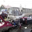 Столкновение легковушки и автобуса. Петрозаводск. Фото: http://dtpptz.ru/