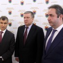 Рашид Нургалиев, Александр Худилайнен и Георгий Каламанов. Фото: пресс-служба правительства Карелии